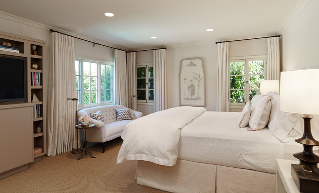 Traditional bedroom in Los Angeles.