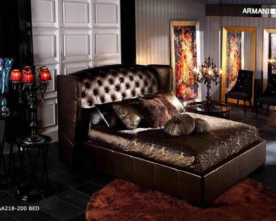 Royal - Brown Leather Bed - Armani Xavira Bed
