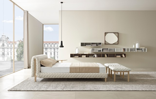 Ruche Bed by Ligne Roset contemporary-bedroom