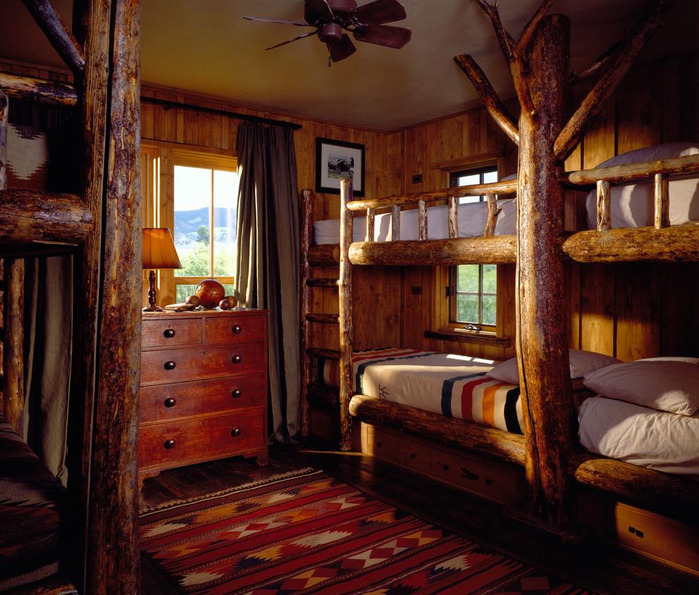 Bedroom - rustic guest bedroom idea in Other