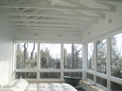 low attic trusses space ideas - Vaulted Ceiling with exposed trusses