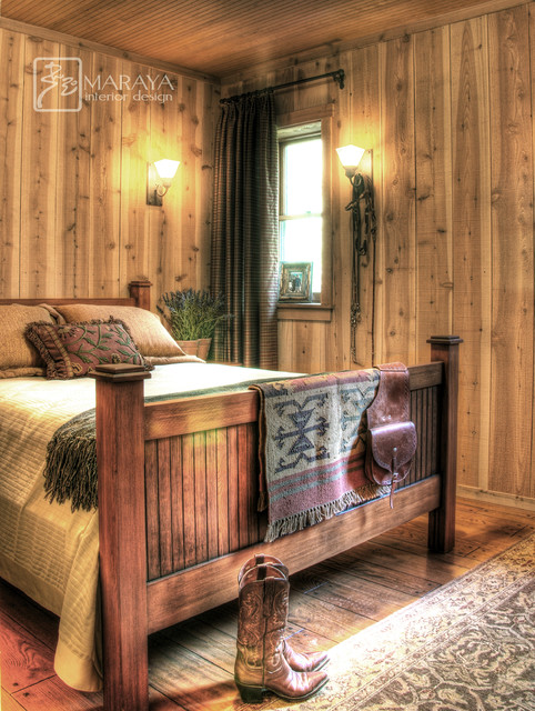 Rustic Cabin Bedroom Farmhouse Bedroom Santa Barbara