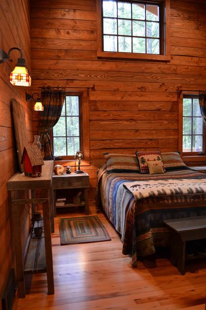 Rustic cabin master bedroom rustic bedroom - Bedroom furniture portland maine ...