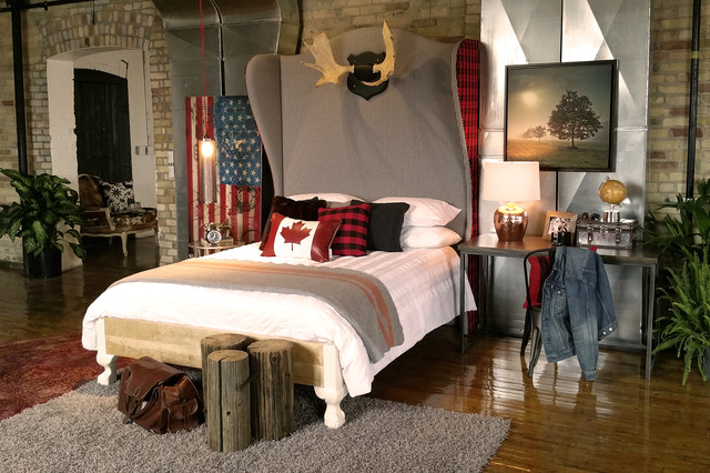 Rustic Cottage Industrial Industrial Bedroom Toronto By Teb Interiors Interiors