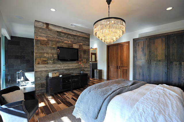 Rustic Glamour Bedroom Los Angeles By JRP