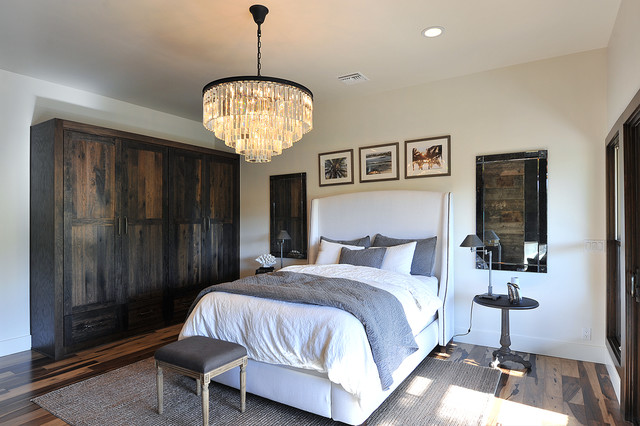 Rustic Glamour Rustic Bedroom Los Angeles by JRP Design