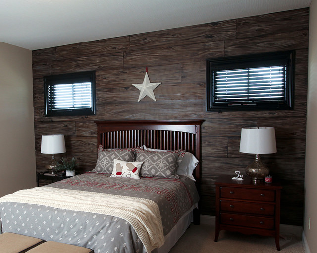 Rustic Guest Bedroom Rustic Bedroom Dublin By