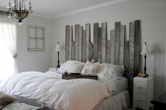 Rustic Headboard eclectic-bedroom