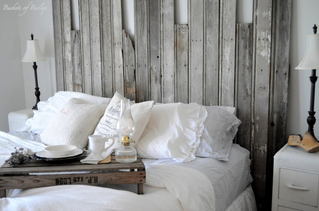 Rustic headboard eclectic bedroom other metro by - Planche pour tete de lit ...
