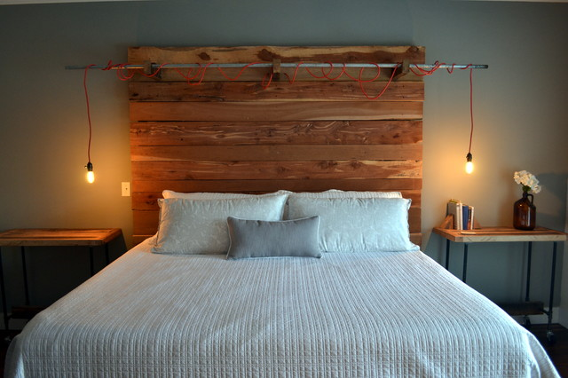 Rustic industrial bedroom for Bedroom ideas industrial