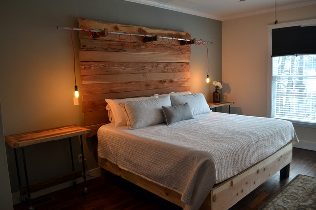 Rustic industrial bedroom for Camere da letto industrial