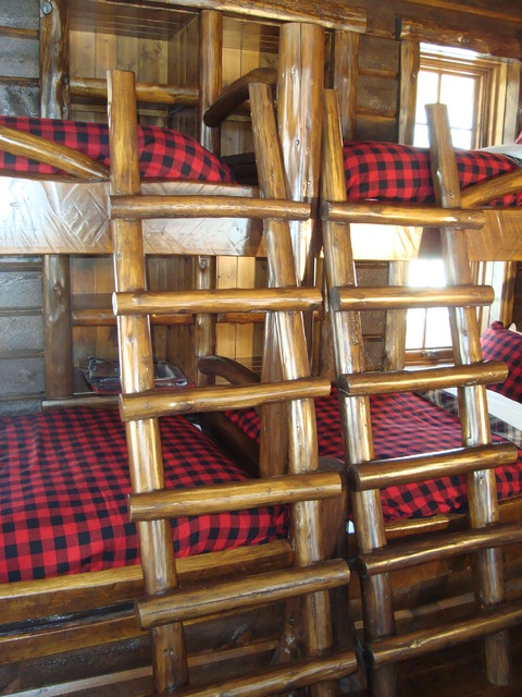 Rustic Lake Home traditional-bedroom