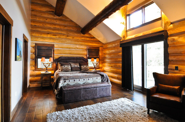 Rustic Log Cabin Rustic Bedroom Denver By Mountain