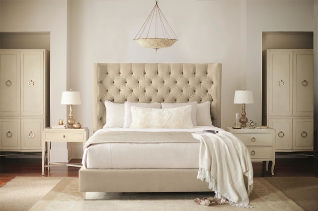 Salon King Upholstered Panel Bed With Diamond Tufting By Bernhardt Eclectic Bedroom