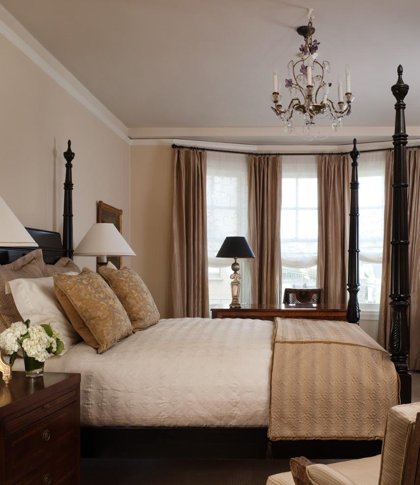 Bedroom - traditional bedroom idea in San Francisco with beige walls