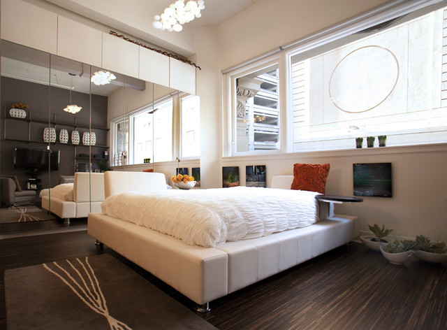 modern bedroom by Susan Diana Harris Interior Design