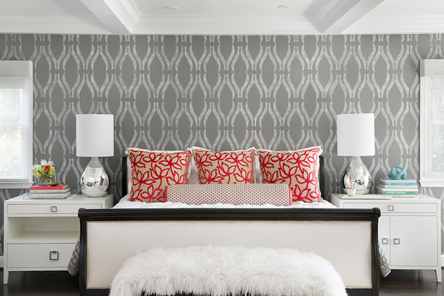 wallpaper design for wall san mateo modern contemporary bedroom san francisco 6970