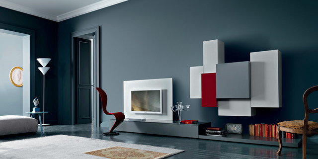 Modern Furniture Tampa sangiacomo wall units. www.softsquare - contemporary - bedroom