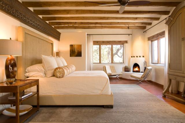 Santa Fe Chic Pueblo Southwestern Bedroom