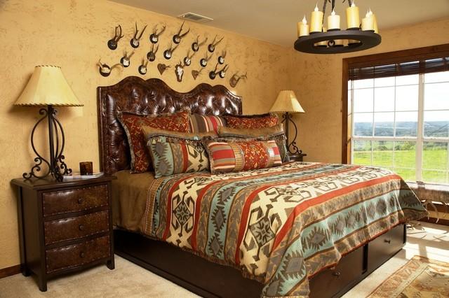 Santa Fe Home - Rustic - Bedroom - albuquerque - by J ...