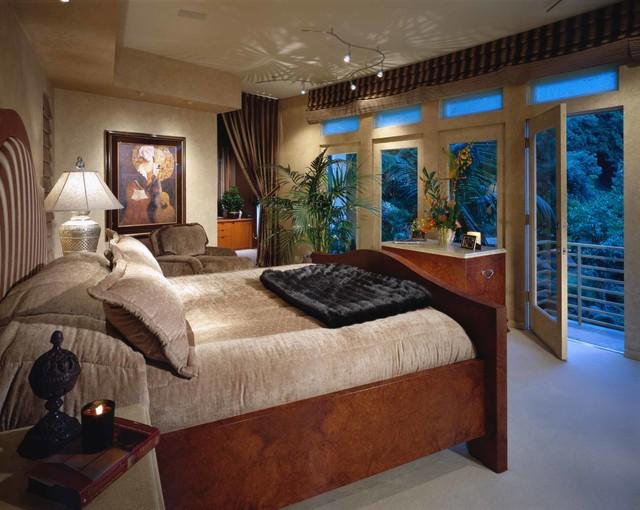 Santa monica canyon residence transitional bedroom - Residence santa monica canyon en californie ...