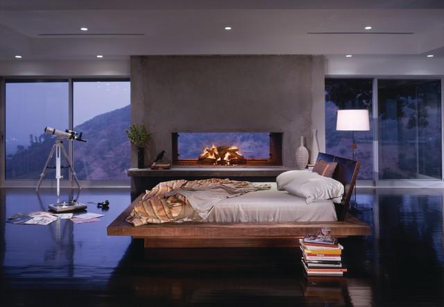 Santos Platform Bedcontemporary Bedroom Los Angeles