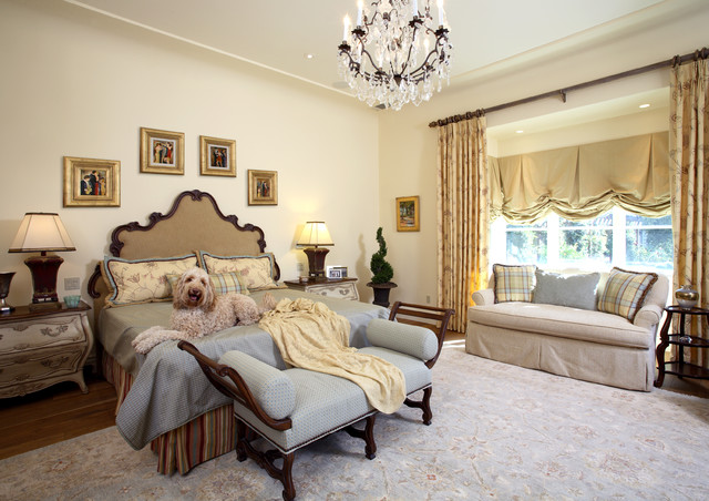 European French Inspired traditional-bedroom
