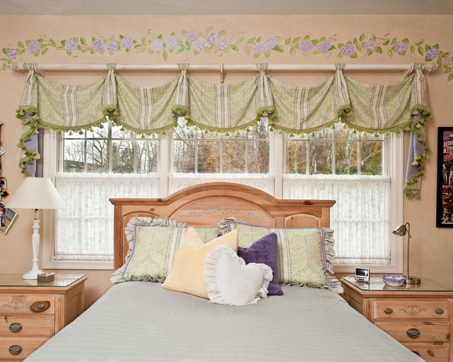savannah valance by window works traditional bedroom new york