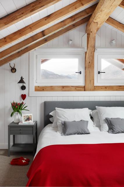 Chalet 'B' - chambre scandinave scandinavian-bedroom