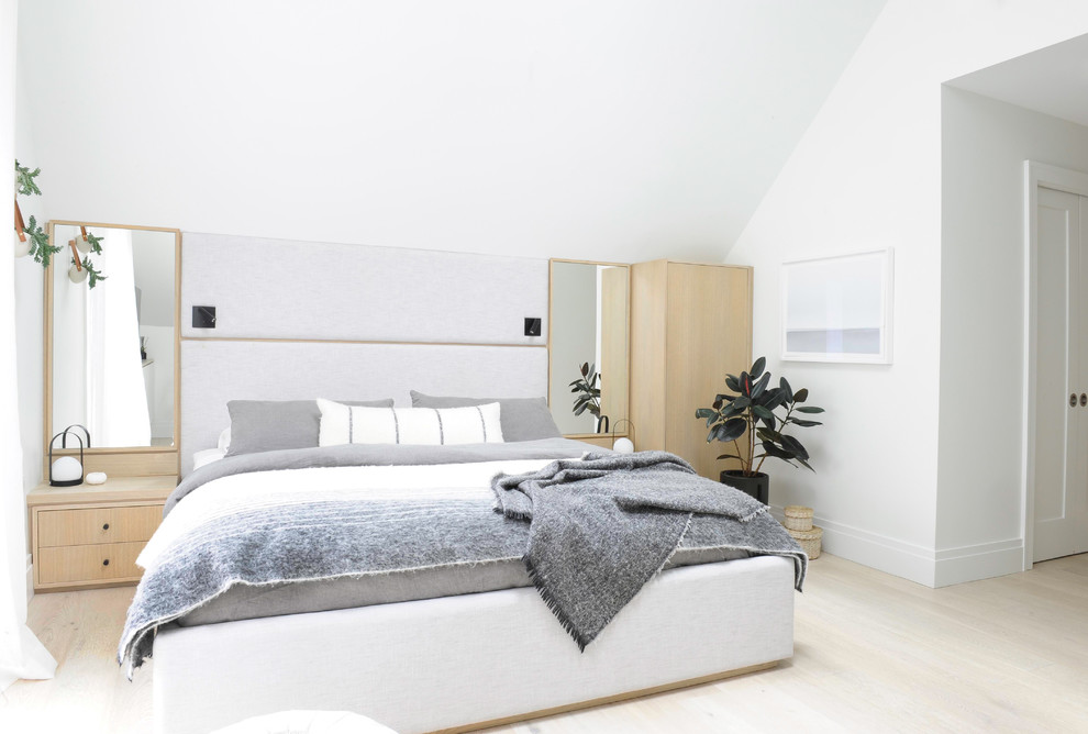 Inspiration for a contemporary bedroom remodel in Vancouver
