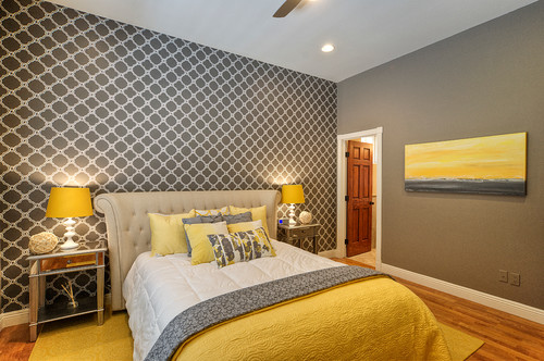 contemporary bedroom The Dos and Donts of Wallpaper