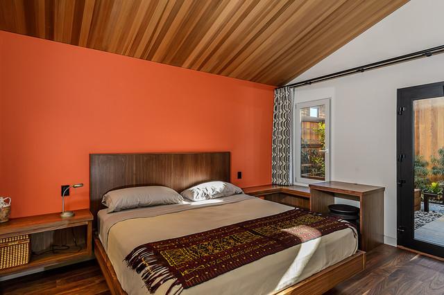 sea ranch residence r tro chambre san francisco par hudson street design. Black Bedroom Furniture Sets. Home Design Ideas