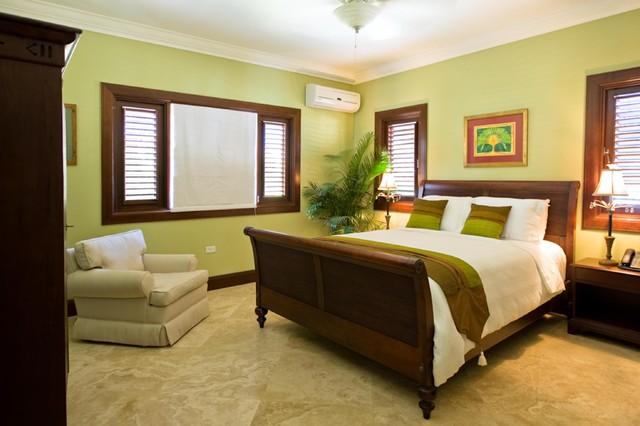 Seaside Lagoon Villa tropical-bedroom