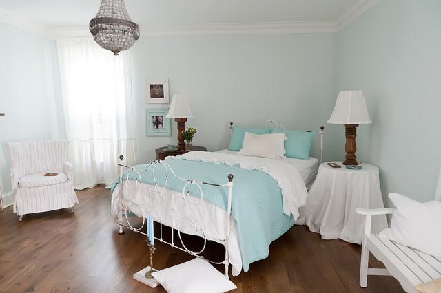 Seaside Style in Brentwood, TN Suburbia beach-style-bedroom