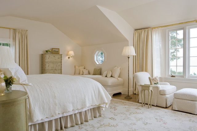 Inspiration for a timeless master light wood floor bedroom remodel in  Boston with beige walls. Ivory Bedding   Houzz