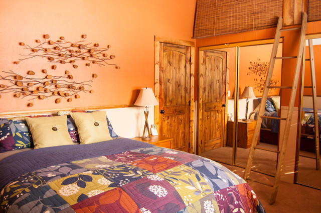 Serene Lakes Cabin rustic-bedroom