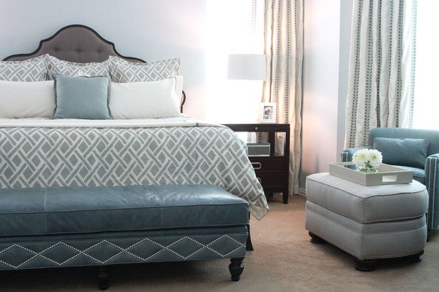 Serene Master Bedroom Traditional Bedroom Dallas By Traci Connell Interiors
