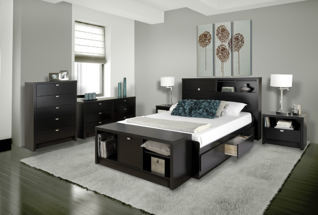 Series 9 Designer Collection In Black Modern Bedroom