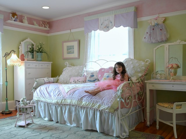 Shabby chic girl 39 s room traditional bedroom new york by carisa mahnken design guild - New york girls room ...
