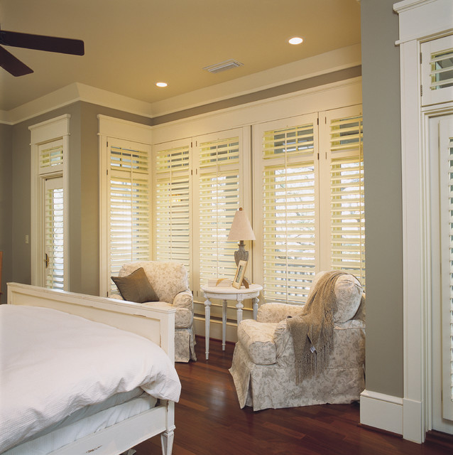 Bathroom Vanities With Tops For Cheap >> Bedroom Plantation Shutters - Shabby-chic Style - Bedroom - Adelaide - by All Shutters and ...