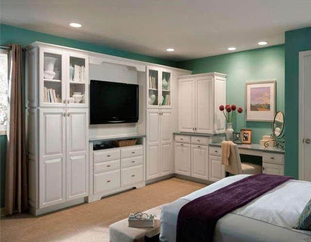 shenandoah cabinetry traditional bedroom seattle