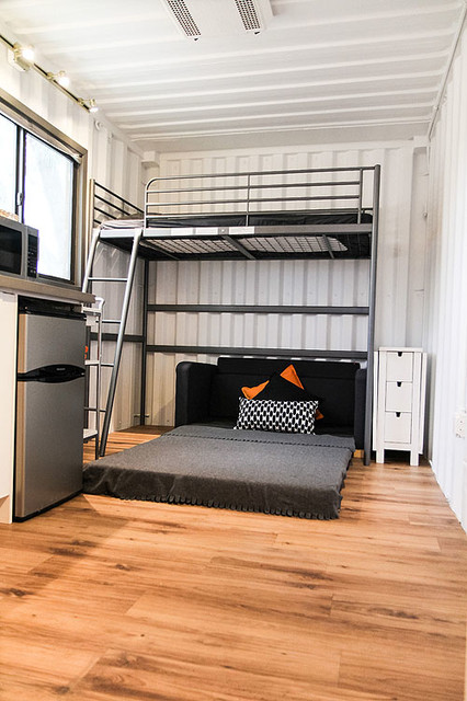 Shipping Container Tiny House modern-bedroom