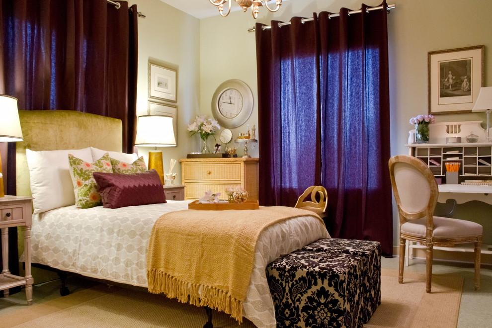 Bedroom - eclectic bedroom idea in Los Angeles with beige walls