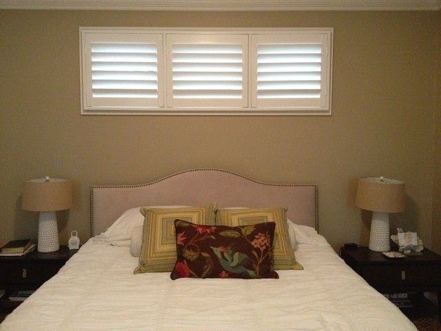 Shutters For Window Coverings transitional-window-blinds