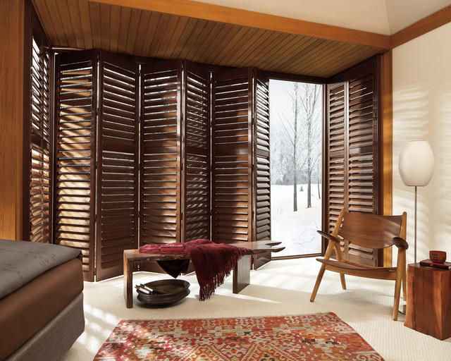 Shutters Plantation Shutters Midcentury Bedroom Detroit By Advantage Blinds Shades