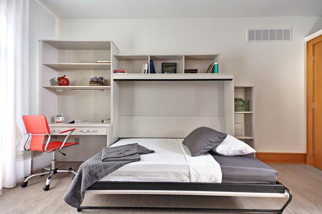 Side Tilt Murphy Bed In Quot Linen Quot Contemporary Bedroom