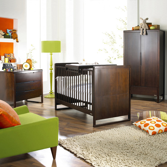 Silhouette Nursery Furniture Set Modern Sovrum Annan