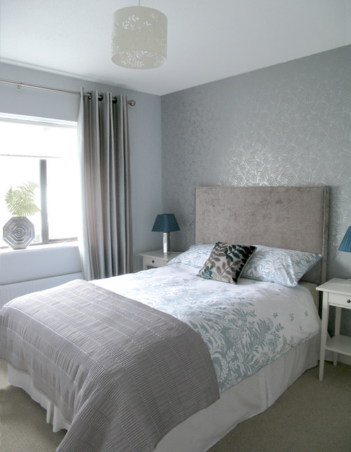 silver grey guest bedroom modern bedroom dublin by