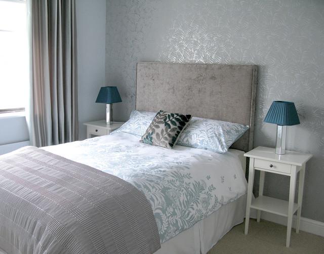 Silver Grey Guest Bedroom Modern Bedroom Dublin By