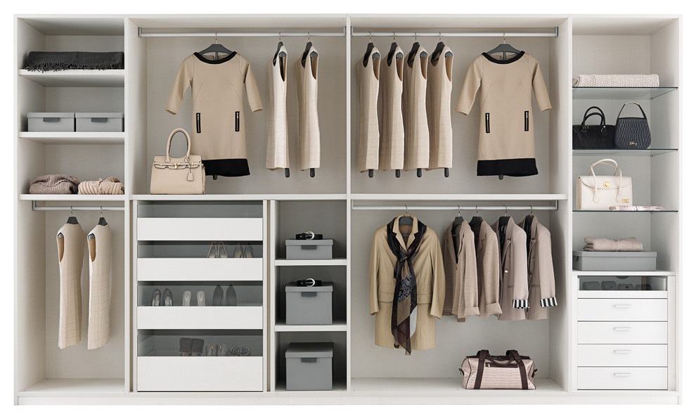 Example of a mid-sized minimalist bedroom design in Brisbane